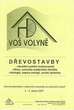 Dřevostavby, sborník přednášek 2007