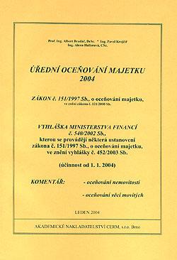 Úřední oceňování majetku 2004