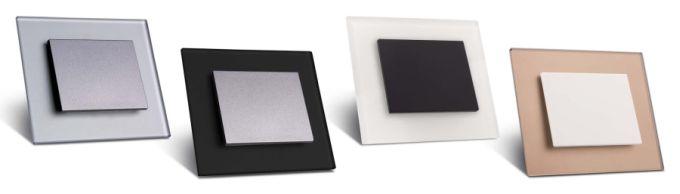 Skleněné ovladače s matným skleněným rámečkem