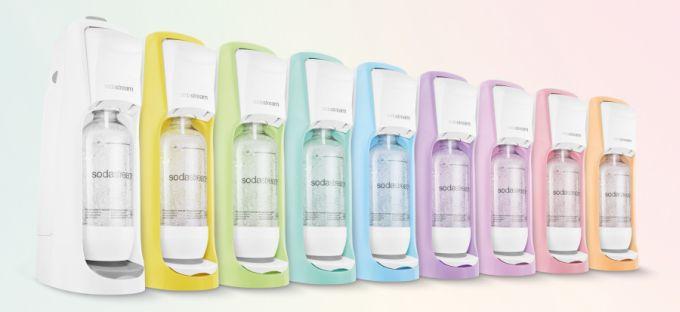 Edice pastelových výrobníků perlivé vody SodaStream
