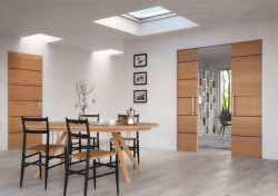 Posuvné dveře a skryté zárubně dodají interiéru moderní styl
