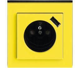 Zásuvka s USB, design Levit® - ABB