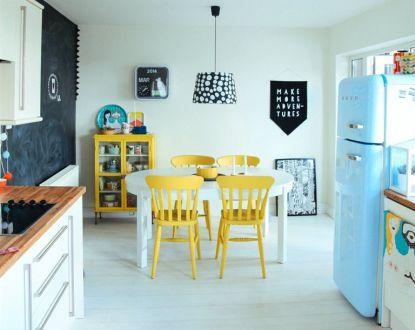 Žlutá barva prozáří interiér