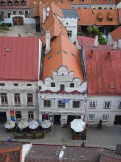 Pohled na Besídku z věže kostela