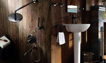 Retro koupelny a baterie v industriálním stylu