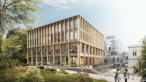 Projekt budovy pro univerzitu přírodní zdrojů a věd ve Vídni zvítězil v konkurenci dalších 59 soutěžících projektů
