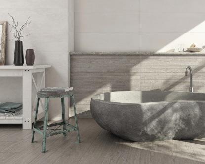 Souladem obkladů, dlažeb a sanity docílíte ideálního vzhledu koupelny