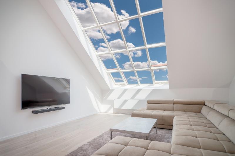 Dotažený celkový design střešního prosklení pro památky, Solara HISTORIK