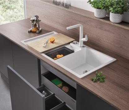 Dřezy BLANCO vám efektivně rozšíří kuchyňskou pracovní plochu