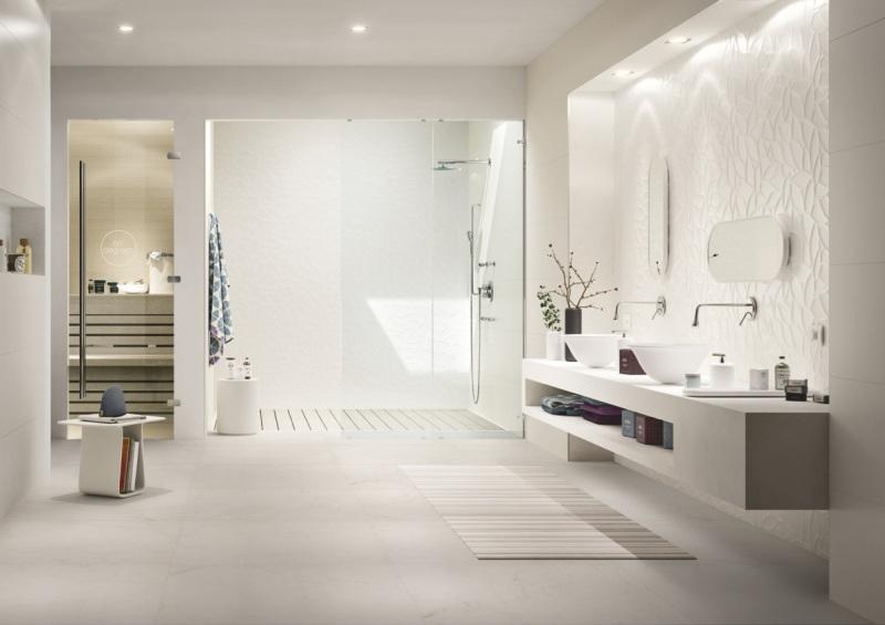 Minimalistický koupelnový design ze série ESSENZIALE<br> Zdroj: Keramika Soukup