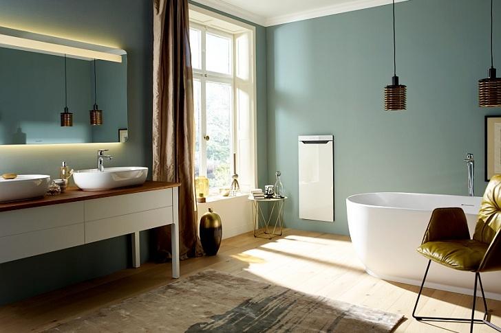 Revoluční topný modul Zehnder Zenia se jednoduše začlení do moderní koupelnové architektury.