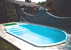 Bazén o rozměrech 5,2x3,0x1,15m