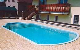 Bazén o rozměrech 8,0x4,0x1,45m