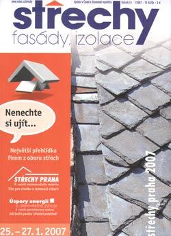 Střechy, Fasády, Izolace 1/2007