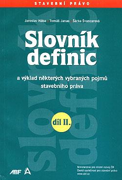 Slovník definic II. díl