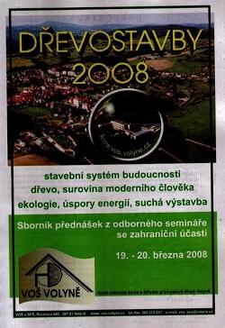 Dřevostavby, sborník přednášek 2008