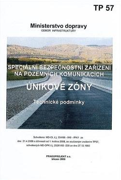 Únikové zóny: Speciální bezpečnostní zařízení na pozemních komunikacích TP 57