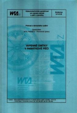Vápenné omítky v památkové péči. Směrnice 2-7-01/D