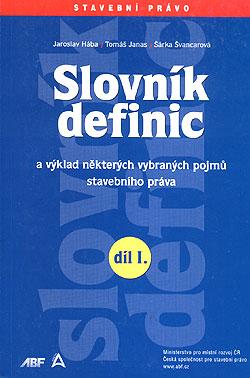 Slovník definic I. díl