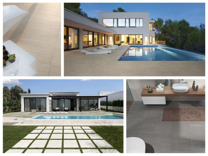 Keramická dlažba Discover se vyrábí v mnoha formátech. Skvěle se hodí do interiéru i exteriéru.