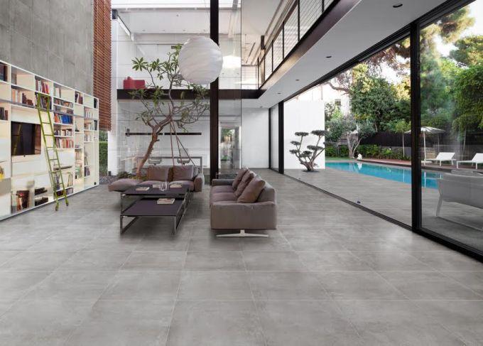 Keramická dlažba se skvěle hodí do interiéru i exteriéru