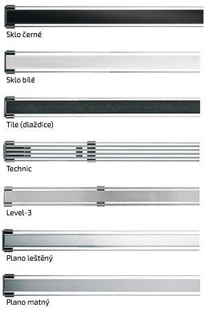 Na výběr máte u žlabu I-Drain Linear z několika designových variant.