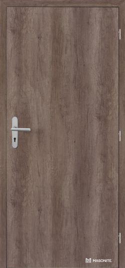 Certifikované dřevěné protipožární dveře MASONITE LUME EXTRA Safety Acoustic v bezpečnostní kategorii RC 2 s odpovídajícím kováním musí být v plné verzi, ale povrchová úprava je vyrobena na přání zákazníka (zde povrch CPL Premium Nebraska). Každé protipožární dveře se identifikují požárním štítkem.