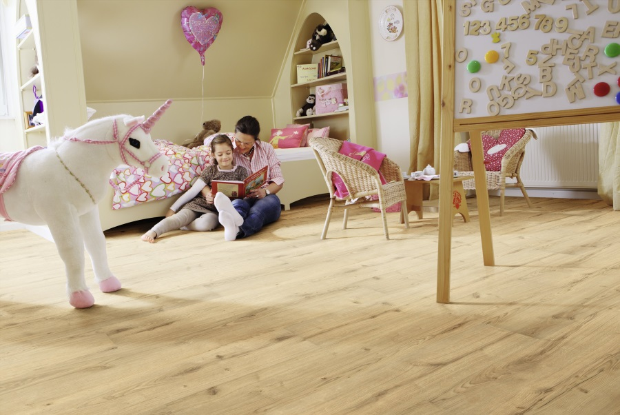 Ekologická elastická podlaha Wineo PURLINE, kolekce Wood XL, dekor Garden Oak, prodává KPP