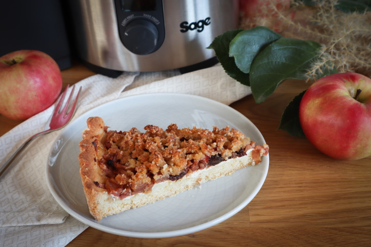 Podzimní recept: Jablečný koláč s tvarohem a drobenkou