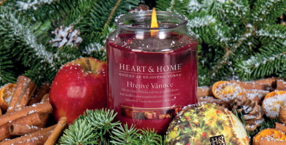 Vánoční tip: Svíčky Heart & Home provoní váš domov