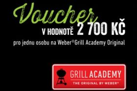 Soutěž o gril a vstupenky na Weber® Grill Academy Original