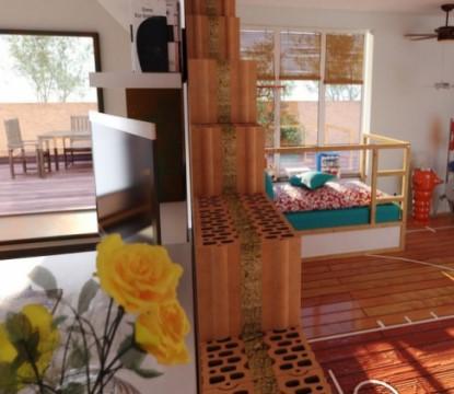 Unikátní akustická cihla HELUZ je určena pro vnitřní příčky v rodinných domech i mezi byty