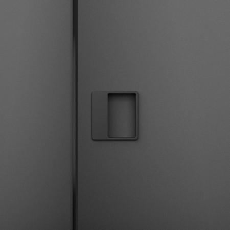 Kování Magnetic v černém matném niklu pro bezfalcové dveře