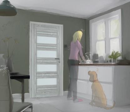 Dveře v odstínech šedé