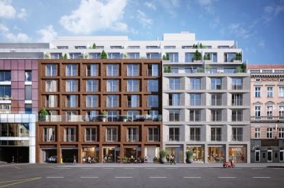 Projekt společnosti Karlín Group a katolické církve láká kupce, prodáno je více než 50 procent bytů