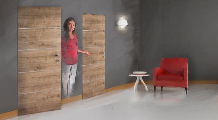Dveřím vládne minimalismus. Hitem jsou bezfalcové dveře se skrytými zárubněmi