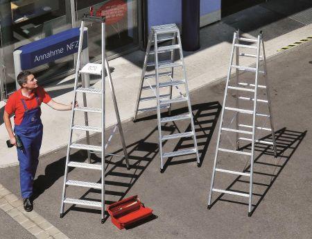 Práce ve výškách je bezpečná pouze s kvalitními žebříky a lešením