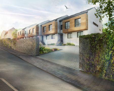 Projekt Viladomy Ořech kombinuje soukromí rodinného domu se stylovým bytem