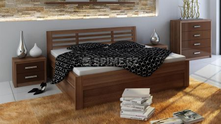 Praktická postel s úložným prostorem do malého pokoje
