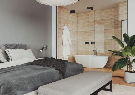 Skleněné dveře přináší do interiéru světlo, lehkost a moderní vzhled