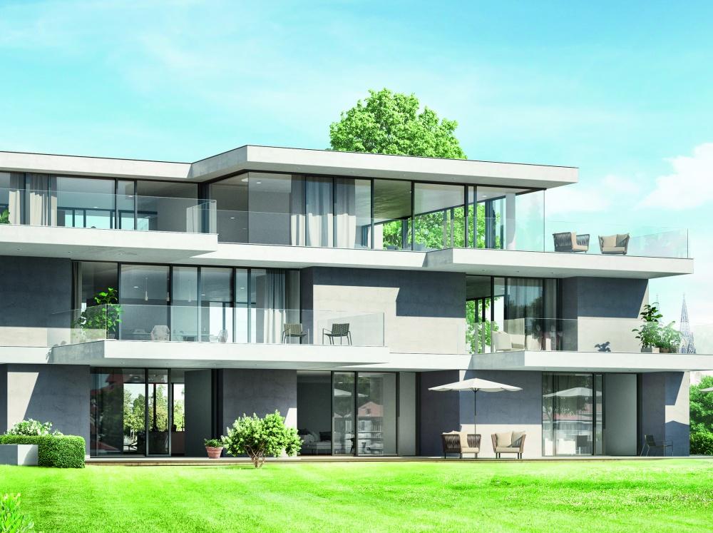 Za design oceněný posuvný systém Schüco ASE 80 je jako stvořený i pro pasivní domy