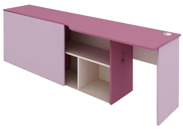 Psací stůl s kontejnerem Aurora, pravý – výběr odstínů