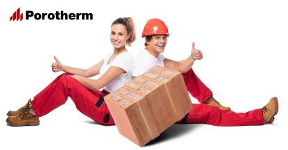 Plánujete stavbu svépomocí? S cihlami Porotherm budete mít po starostech!