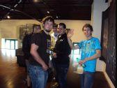 Studenti při prohlídce expozice o báňském záchranářství, která byla součástí        doprovodného programu v areálu hornického muzea Landek.