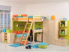 Veselé dětské pokoje z masivu