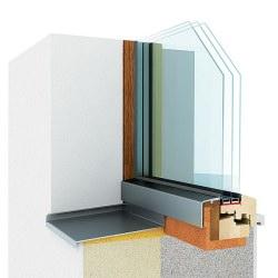 Elegantní dřevěné okno, které se chrání samo