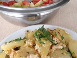 Smetanové brambory zapečené s brynzou