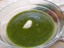 Krémová polévka se špenátem a celerem