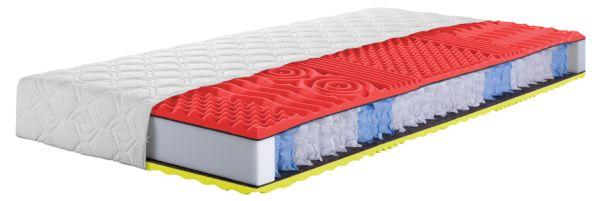 Matrace SAVOY je tvořena jádrem ze sedmizónových taštičkových pružin,které je kombinováno s vysoce komfortními antibakteriální pěnami o různých tuhostech z obou stran matrace.
