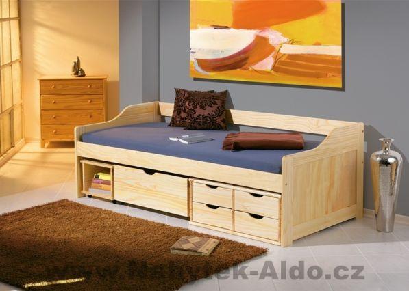 dětská postel z masivu v selském duchu z kolekce Maxima, cena: 7 439 Kč